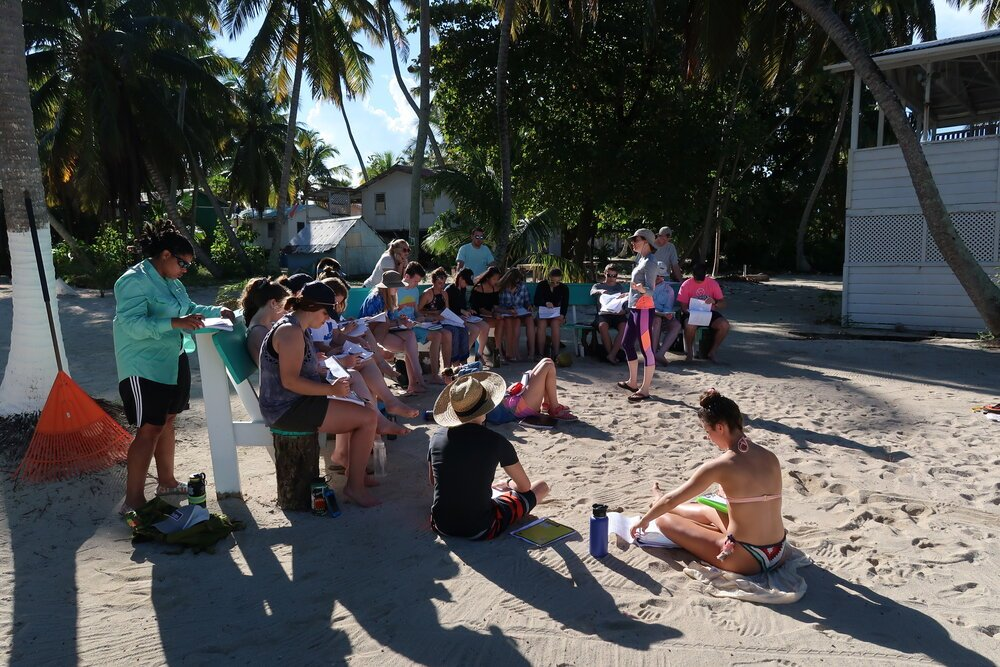 Tobacco Caye Marine Station Group Classes